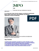 Para Amorim Novo Chanceler Ter%C3%A1 Que Restabelecer Moral de Diplomatas
