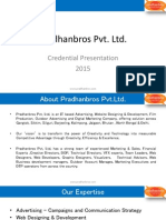 Pradhanbros Pvt ltd Credentials 2015.an Advertising, Website Designing & Development, Outdoor Advertising and Digital Marketing Company