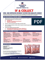 Improved Payment System for Dangote Cement & Partner Banks Location and Branch Addresses Advert