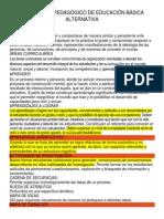Diccionario Pedagógico de Educación Básica Alternativa