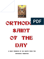 Saint Day Book Daily Readings of Orthodox Saints