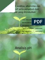 PH Asiditas Alkalinitaas CO2 Agresif
