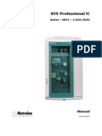 Manual 850 Professional IC Anion MCS 8.850.8046EN
