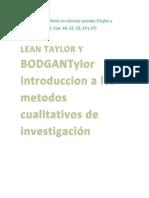 Métodos Cualitativos en Ciencias Sociales Tayloy Marradi 10 12 13 14 17
