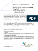 CMOS Folded Cascode OTA