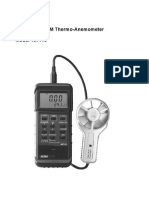 ANEMOMTER EXTECH Air Flow,Velocity Meter