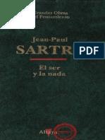 JEAN PAUL SARTRE - EL SER Y LA NADA
