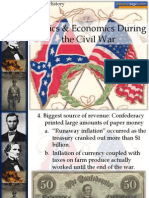 civil war politics and economics end of packet notes