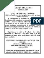 Informatii Sustinere Licenta Iulie 2014