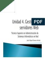 Unidad 4 - Gestion de Servidores Web