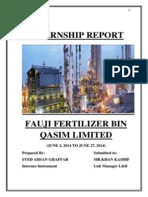 Internship Report FFBL | Flow Measurement | Programmable