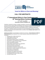 call for abstracts ethicsincarenursing surrey2015