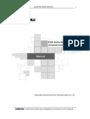 SUNFAR E300 Inverter pdf | Power Inverter | Power Supply