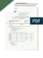 Examen de Fin de Formation T.S Gros Oeuvre 2009 Epreuve Pratique