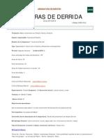 Lecturas de Derrida