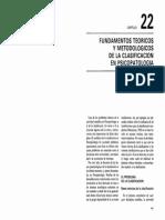 Fundamentos teóricos de la clasificación en psiquiatría y psicologia.