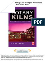 Rotary Kilns Transport Phenomena Processes
