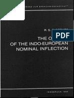 Beekes - The origins of the Indo-European nominal inflection (Institut für Sprachwissenschaft der Universität Innsbruck, 1985.)