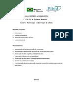Roteiro e Questionário de Aula Prática Microscopia