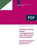 Memorandum Cpb 14feb2013 Dutch Housing Market