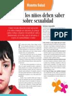 Lo Que Deben Saber Los Niños Sobre Sexualidad