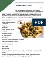Blog.giallozafferano.it-tortiglioni Al Sugo Di Pancetta Cipolla e Piselli