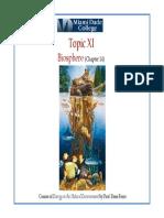 Topic XI Biosphere