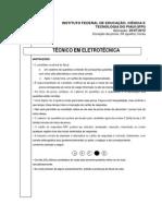 Ifpi 2012 if Pi Tecnico Em Eletrotecnica Prova