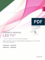 Manual TV-Monitor LG 22MA33D