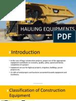 Hauling equipments(Trucks)