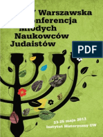 V Warszawska Konferencja Młodych Naukowców Judaistów