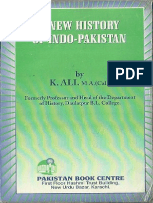 A New History of Indo-Pakistan by K ali