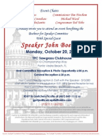 Reception and Golf Fundraiser for Boehner for Speaker