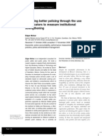 Fostering Better Policing Through Indicators