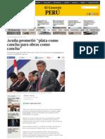 """05-01-2015 ACUÑA PROMETIÓ """"PLATA COMO CANCHA PARA OBRAS COMO CANCHA""""."""