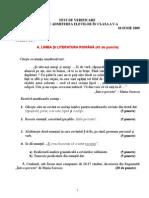 Subiecte Cls v 2009