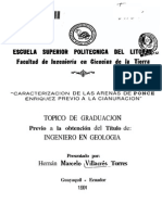 Caracterizacion de Las Arenas