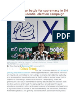 Hope and Fear Battle for Supremacy in Sri Lanka's Presidential Election Campaign
