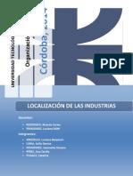 Localización de Las Industrias..