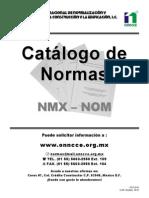 Catálogo de normas NMX - NOM