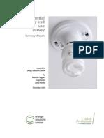 Residential Energy End Use Survey