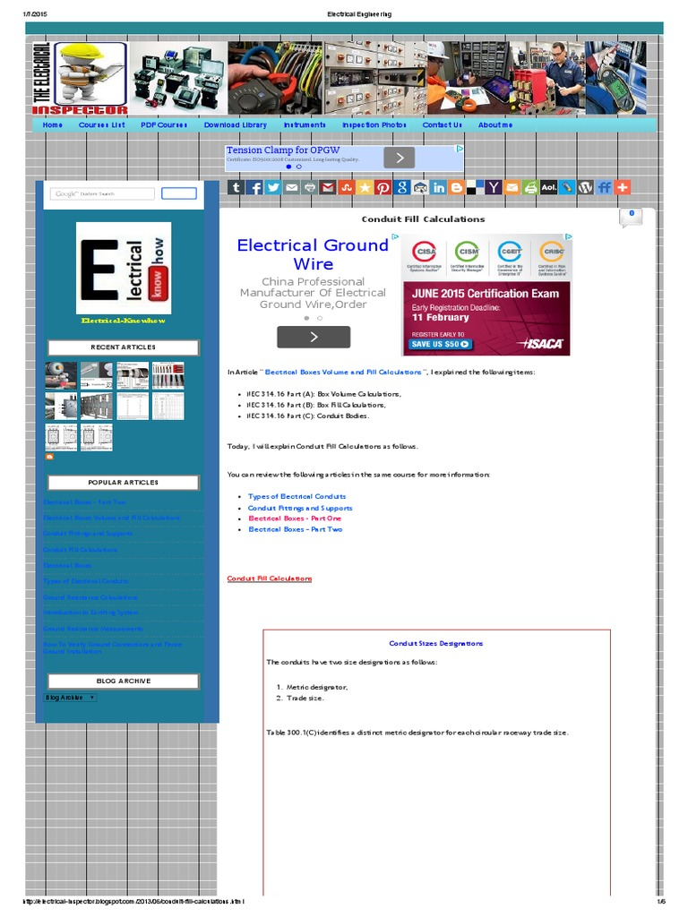 Conduit fill calculationpdf electrical conductor cable greentooth Image collections