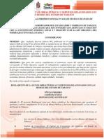 Reglamento de La Ley de Obras Publicas y Servicios Relacionados Con Las Mismas Del Estado de Tabasco (Publicado Del 03 de Julio 2004)