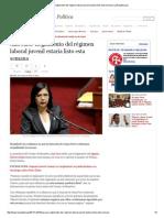 Ana Jara_ Reglamento Del Régimen Laboral Juvenil Estaría Listo Esta Semana _ LaRepublica