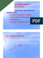 Faktorial Design