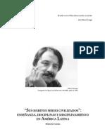 Enseñanza y disciplina en América Latina. Marcelo  Caruso