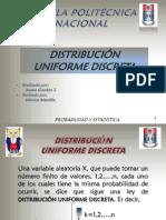 Distribucion Uniforme Discreta