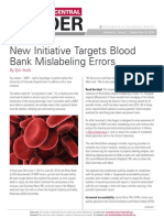 insider blood bank initiative