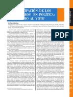 Participacion de Extranjeros en Politica