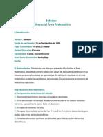 Formato Informe Diferencial Matemática
